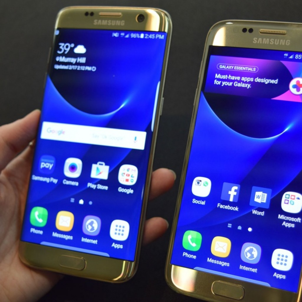 Samsung Galaxy S7 Экраны