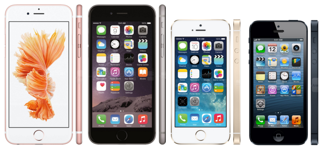 iPhones-all