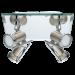 Цены на Eglo 31267 Место применения  -  для кабинета,   Высота  -  26,   Глубина  -  24,   Количество плафонов  -  4,   Тип светильника  -  Спот,   Цвет  -  Серебристый,   Материал плафона  -  Металл,   Мощность (общая)  -  12,   Тип лампочки (основной)  -  Светодиодная,   Тип цоколя  -  GU10,   Форма