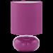 Цены на Eglo 93047 Цвет  -  Фиолетовый,   Виды светильников  -  Настольные,   Коллекция  -  Trondio,   Место применения  -  для спальни,   Степень пылевлагозащиты  -  IP20,   Высота  -  27,   Площадь освещения  -  1 - 3,   Количество ламп  -  1,   Тип цоколя  -  E14,   Форма плафона  -  Круглая,   Вес  -