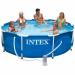 Цены на Intex Бассейн быстро и легко устанавливается в течение 10 минут. Надуйте верхнее кольцо и налейте воды в бассейн. По мере заполнения,   кольцо поднимается вместе с уровнем воды,   расправляя стенки. Стенки бассейна имеют усиленную прочность,   состоят нескольки