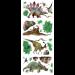 """Цены на Наклейки на стену """" Динозавры""""  от компании RoomMates могут понравиться детям,   которые увлекаются этими величественными ископаемыми ящерами. Комплект состоит из четырех листов,   на которых находятся виниловые наклейки. Они выглядят ярко и реа..."""