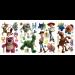 """Цены на Разнообразные наклейки для декора от компании RoomMates с изображениями персонажей из третьей части мультфильма """" История игрушек""""  сделают веселой и уютной любую комнату в доме. В комплекте есть 4 листа с клеящимися красочными картинками. Некотор"""