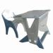"""Цены на Интехпроект Набор мебели Интехпроект ТЕХНО 14 - 460 Набор детской мебели (стол + стол) """" Техно""""  с возможностью регулировки по высоте. Рассчитан на 1 и 2 ростовую группу (2 - 6 лет). Стол имеет прочное и устойчивое к влаге покрытие ПВХ пленкой с двумя в"""