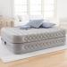 Цены на Intex Кровать Intex Supreme Air - flow со встроенным насосом 203х152х51 см 64464 Надувная кровать серии Dura Beam изготовлена по технологии Fiber - Tech. Внутренние перегородки сделаны из множества полиэфирных волокон,   за счет чего кровать становится намного