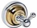 Цены на Bemeta Крючок для полотенец Bemeta Retro 144206038 золото/ хром Монтаж: настенный Тип: для полотенца,   двойной Материал: латунь Ширина: 65 мм Глубина: 65 мм Высота: 65 мм Метод крепления: шурупы Цвет: хром/ золото Стилистика дизайна: современный стиль