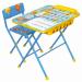 Цены на Ника Набор мебели Ника ПЕРВОКЛАШКА ОСЕНЬ стол + мягкий стул Комплект складной. Подходит для кормления,   игр и обучения. Поверхность столешницы ламинированная с нанесением ярких познавательных рисунков. На поверхности стола можно рисовать маркером на водной о