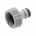 Цены на Gardena Штуцер резьбовой Gardena 18201 - 29.000.00 Диаметр трубы/ крана,   дюйм3/ 4 Тип соединителяStandart Материалпластмасса Штуцер резьбовой  -  адаптер для подсоединения садового шланга к водопроводному крану диаметром 21 мм (G 1/ 2) с резьбой 26.5 мм (G 3/ 4).