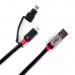 Цены на Connect2 2 in 1 USB/ Micro/ Lightning 2m Black Monster USB/ Micro/ Lightning кабель,   предназначенный для синхронизации ,   а также зарядки. Длинна 2м