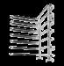 Цены на Terminus Полотенцесушитель Terminus Ника 32/ 20 (500*730) Водяной полотенцесушитель Ника отличает стильное угловое исполнение. Оно необычное и вместе с тем практичное. Площадь,   а также размеры данного прибора достаточно большие,   благодаря чему прогрев ванн