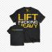Цены на Dedicated Nutrition Майки,   безрукавки и футболки Dedicated Nutrition,   Футболка мужская 'LIFT F#CKING HEAVY'