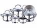 Цены на Набор посуды 10 пр. BERGNER BG - 6529 Набор посуды 10 пр. BERGNER BG - 6529 Набор посуды Bergner BG - 6529 изготовлен из высококачественной нержавеющей стали FERRINOX 18/ 10,   которая обеспечивает быструю аккумуляцию тепла и продолжительное его сохранение. Констр
