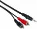 Цены на Hama Jack 3.5 (m)/ 2хRCA (m) 5м 30456 Hama Jack 3.5 (m)/ 2хRCA (m) 5м 30456 (черный) Кабель Hama Jack 3.5 (m)/ 2хRCA (m) используется для подключения портативного устройства к акустической системе – например,   к ресиверу,   усилителю или напрямую к активным кол