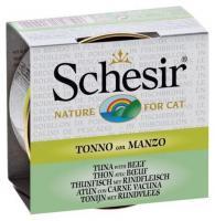 Schesir Консервы для кошек (с тунцом и говядиной в бульоне) 70 г