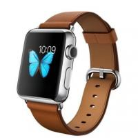 Apple Watch 38mm Stailnless Steel Case with Saddle Brown Classic Buckle (MLCL2)