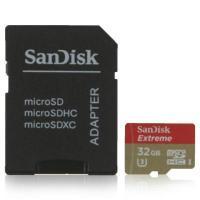 SanDisk 32 GB microSDHC UHS-I U3 Extreme + SD adapter SDSQXNE-032G-GN6MA